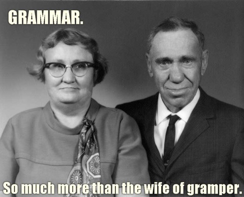 old married couple 50s fifties spelling grammar