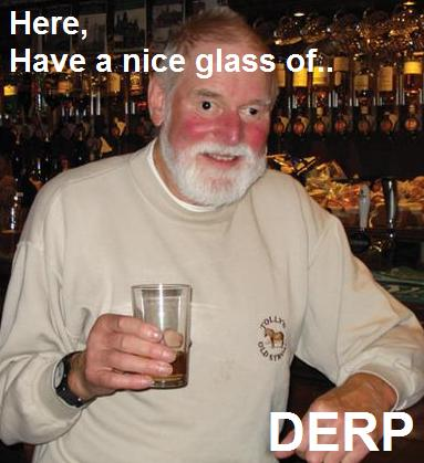 old bloke guy man pub beer red faced white beard derp glass