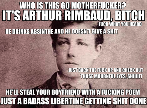 arthur rimbaud poet badass absinthe france french